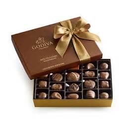milk chocolate gift box gold ribbon 22 pc godiva