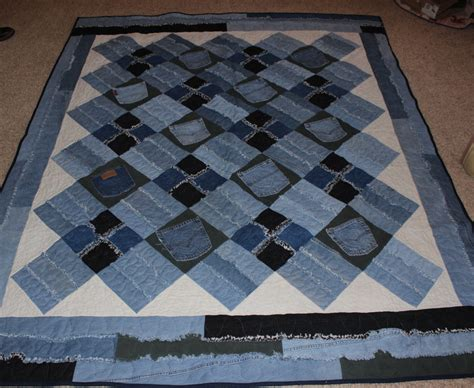 Blue Jean Quilts by Memory Quilt Denim Rag Quilt Blue Jean Quilt Denim Quilt