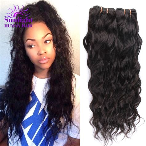 good wet and wavy human hair brazilian virgin hair water wave 3 bundles wet and wavy