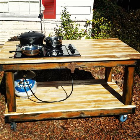 Outdoor Propane Cooktop items similar to outdoor propane cooktop bbq canning table on etsy