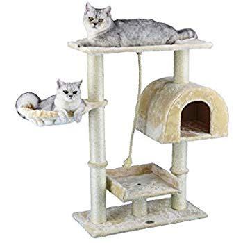 amazoncom  pet club small cat tree furniture beige
