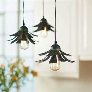 flower pendant light flower petal hanging light eclectic pendant lighting