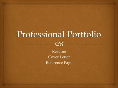 professional portfolio ppt