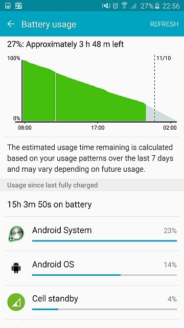 android system battery drain android system battery drain in note 5 when stand by not fixed so far android forums at