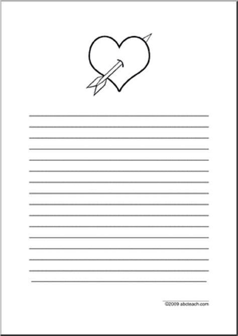printable writing paper upper elementary printable line paper with valentine s day or heart theme