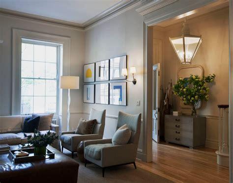 manhattan townhouse modern living room  york