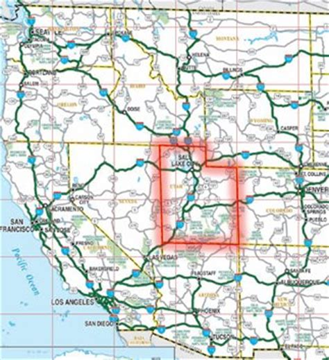 road map western us best photos of map of western united states highways