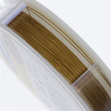 beading wire beadalon 19 strand satin gold 3mm beading wire 30ft