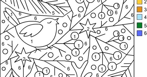 color by numbers holiday coloring pages nicole s free coloring pages christmas color by number