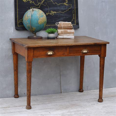 vintage oak s desk vintage solid oak 1930 s office desk two drawers