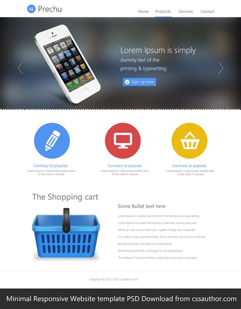 mobile themes psd free download free responsive web templates with psd freebies