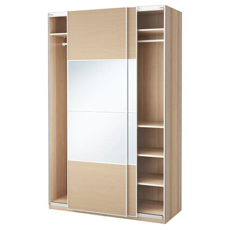 ikea pax armoire pax wardrobe white stained oak effect auli ilseng