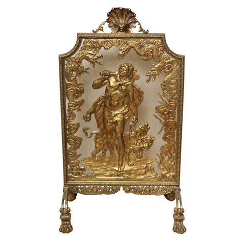 bronze fireplace screen bronze dore screen for sale at 1stdibs