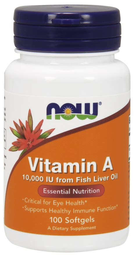 Vitamin A 200 000 Iu Vitam 237 N A 10 000 Iu Now Foods Evitaminy Sk