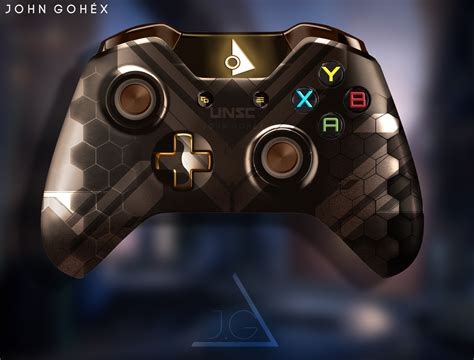 xbox controller with fan xbox one controller halo oni edition by johngohex on
