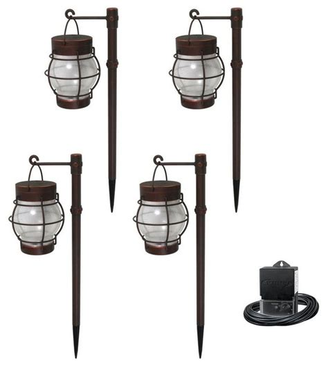 Malibu Outdoor Lighting Kits Malibu Path Landscape Lights Low Voltage Led 4 Daybreak Kit 8406 2951 04 Contemporary