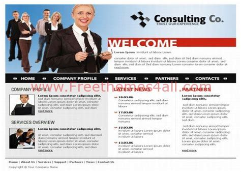 Business Consulting Css Template Download Consulting Website Template