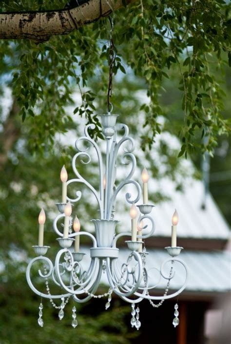 outdoor wedding chandelier 50 yard sale and flea market finds and how to use