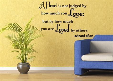 wizard of oz wall stickers wizard of oz vinyl wall quote decal is not judged