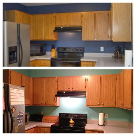 kitchen embellished blue by behr sherwin williams matched it my kitchen now so much