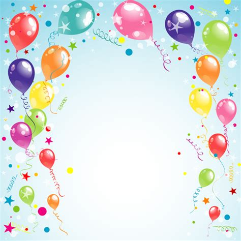 Happy birthday background vector free vector download