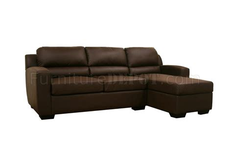 faux leather convertible sofa bed sectional soren brown