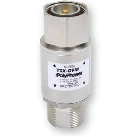 times microwave systems 100 700 mhz dc blocked surge arrestor nf lp hbx nff from solid signal polyphaser bi directional coaxial rf protector nm nf
