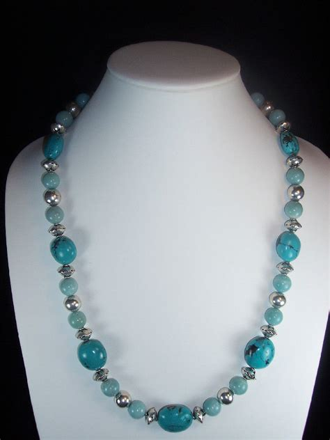 Handmade Turquoise Necklace - handmade jewelry genuine turquoise necklace amazonite