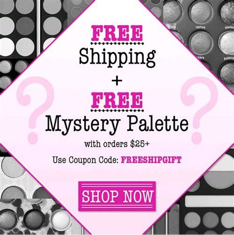 A Free Shipping Mystery - free shipping free mystery palette on orders 25 at bh