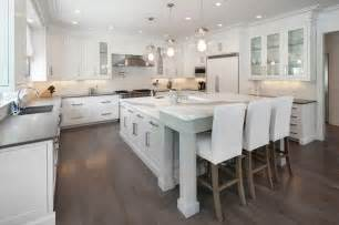 White Kitchen Island With Breakfast Bar L Shaped Bar Design Ideas