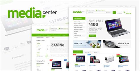 themeforest ecommerce html template media center electronic ecommerce html template by