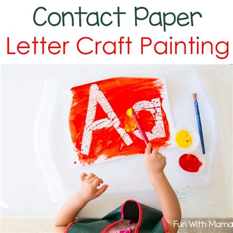 craft contact paper contact paper letter painting with and
