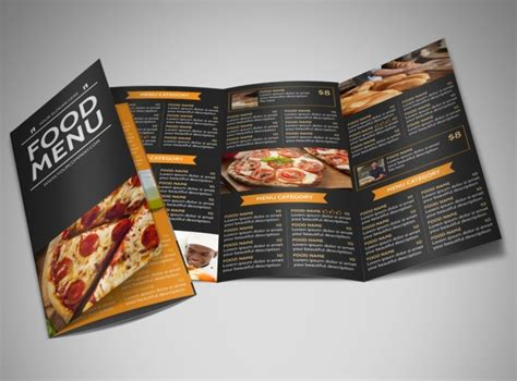 3 fold menu template pizza menu brochure template mycreativeshop