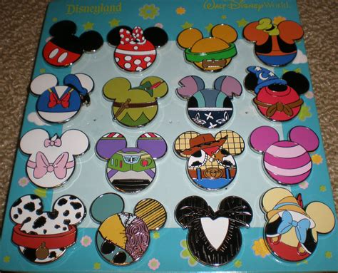 Pinset 1 Set complete set mickey mouse icon mystery pouch disney pins