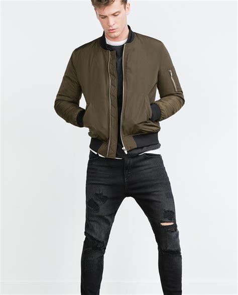Jaket Rompi Vest Pull Black Padded Jacket Vespa Original zara quilted bomber jacket in green for lyst