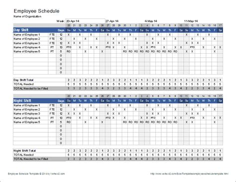 Employee Shift Schedule Template employee schedule template shift scheduler