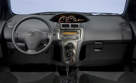 toyota yaris interior car and driver