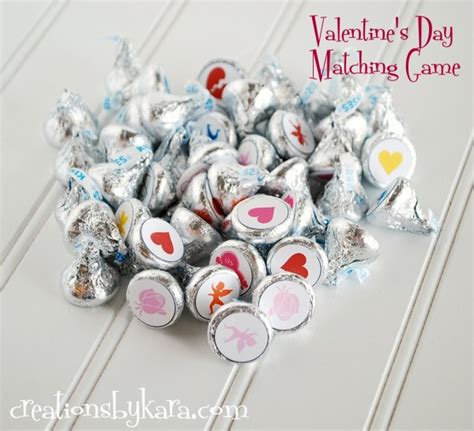 valentines day matching free printable
