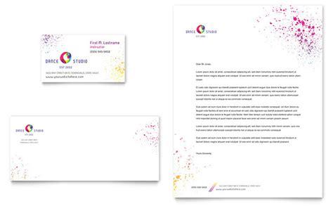Dance Studio Business Card & Letterhead Template Design
