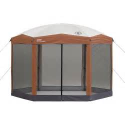 Portable Canopy Walmart by Coleman 12 By 10 Foot Hex Instant Screened Canopy Gazebo