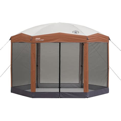 instant gazebo coleman 12 by 10 foot hex instant screened canopy gazebo