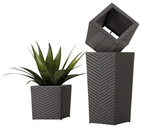 modern indoor planters zuo cancun tall planter modern indoor pots and