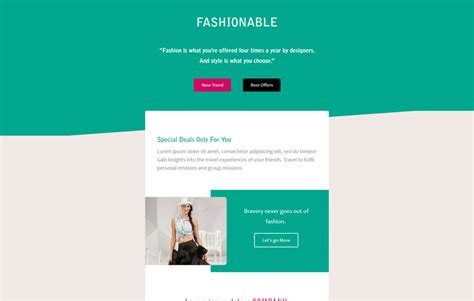 Fashionable A Newsletter Responsive Email Template Website Design Email Template
