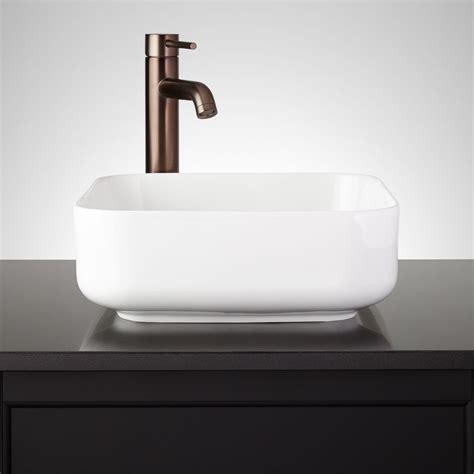 square contemporary vessel sink signature hardware