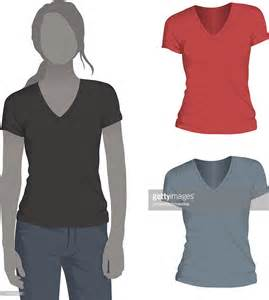 V Neck Tshirt Template by Womens Vneck Tshirt Mockup Template Vector Getty Images