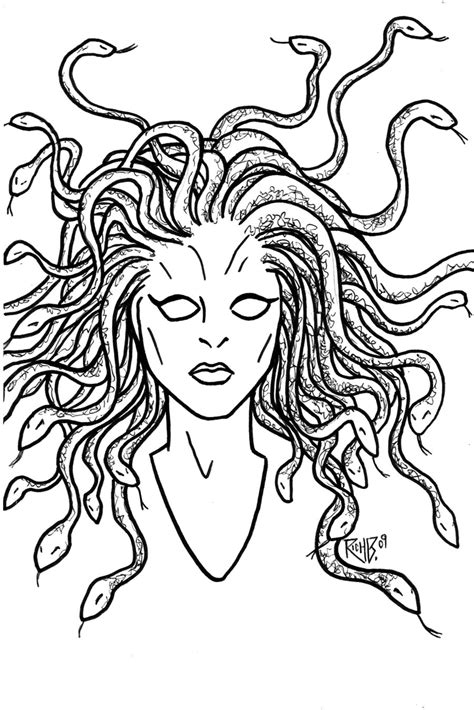 medusa coloring pages medusa coloring pages