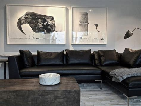 Black Sofa Grey Walls by Best 25 Grey Leather Sofa Ideas On Leather