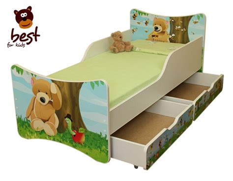 matratze 90x180 cot bed junior bed 4 sizes with two drawers ebay