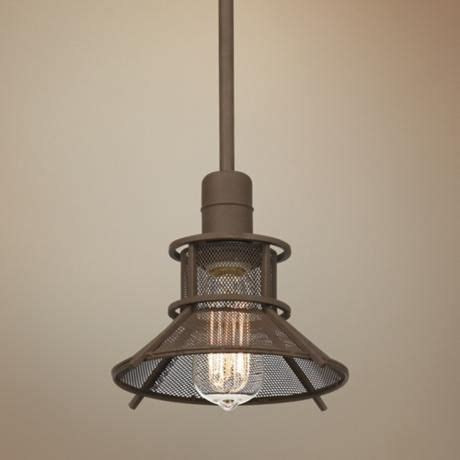 Mini Pendant Lights For Bar Glasgow Olde Bronze 8 1 2 Quot Wide 1 Light Mini Pendant Bar Areas Industrial Metal And Metals