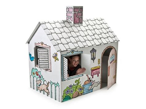 cardboard playhouse to color cardboard house color and play sissiworld mums
